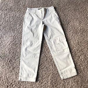 Women's Theory tan Valiant cropped pants 00